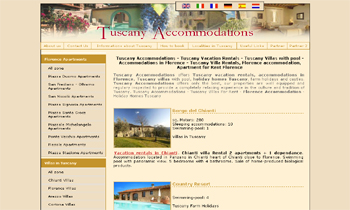 Tuscany Accommodations