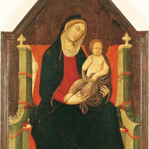 Opera Madonna with child, Municipal Museum of Lucignano