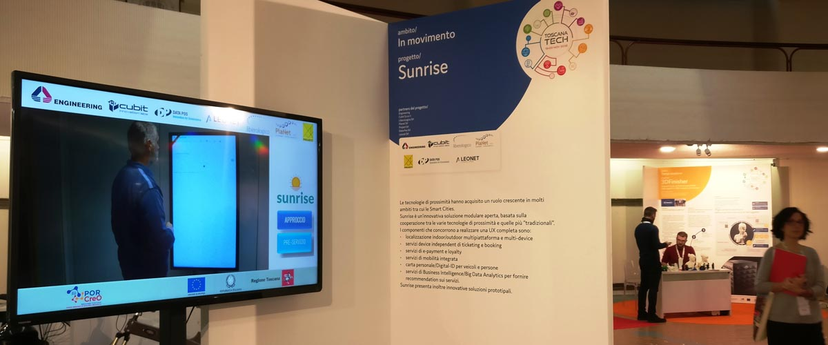 foto stand SUNRISE a Toscana Tech